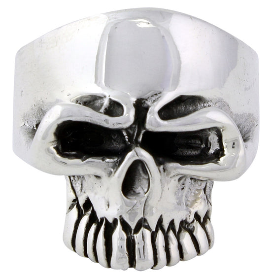 Sterling Silver Undertaker Skull Ring