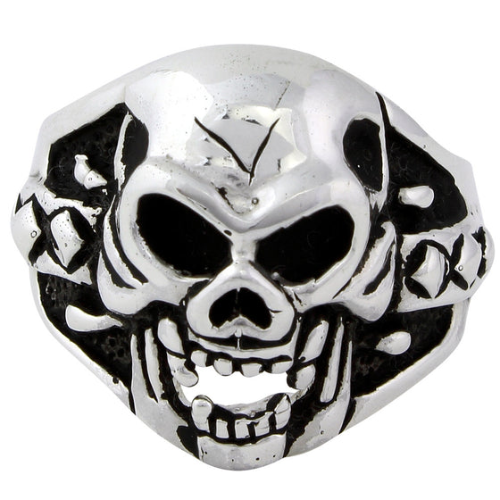 Sterling Silver Sadist Skull Ring