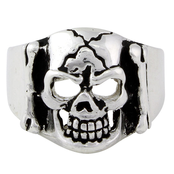 Sterling Silver Branded to Die Skull Ring