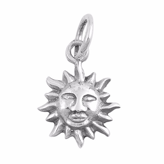 "Sterling Silver Sun Pendant 11MM (FREE 18"" Chain)"