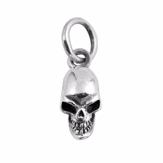 "Sterling Silver Skull Key Pendant 8MM (FREE 18"" Chain)"