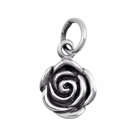 "Sterling Silver Rose Pendant 10MM (FREE 18"" Chain)"