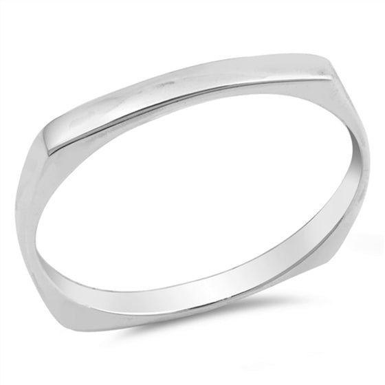Sterling Silver Bar Ring (Size 4 - 10)