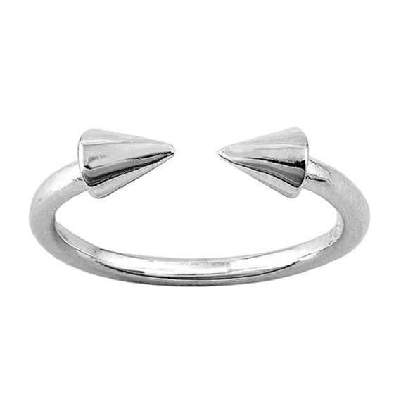 Sterling Silver Arrow Toe Ring/ Knuckle/ Mid-Finger 4MM