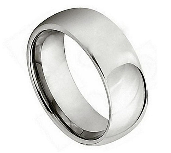 High Polished Domed Titanium Ring 7MM
