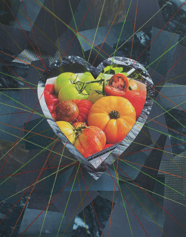 "Cassandra Tondro, ""Summer Bounty,"" collage art"