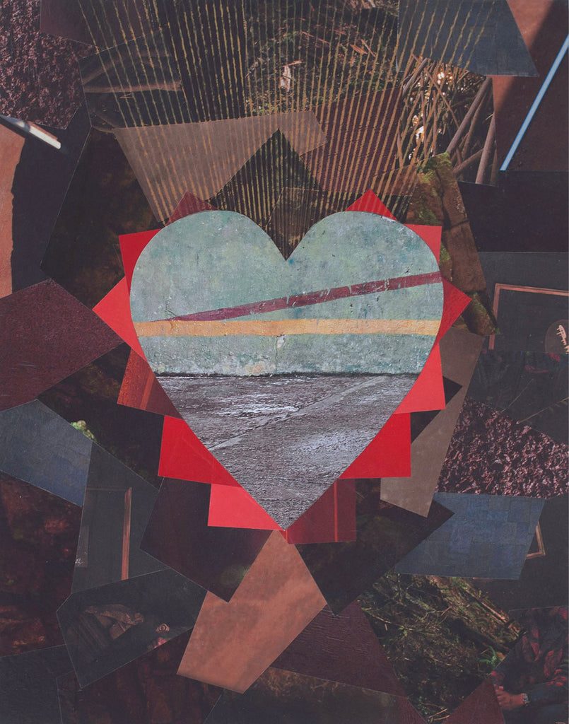 "Cassandra Tondro, ""Birthing New Life,"" heart collage"