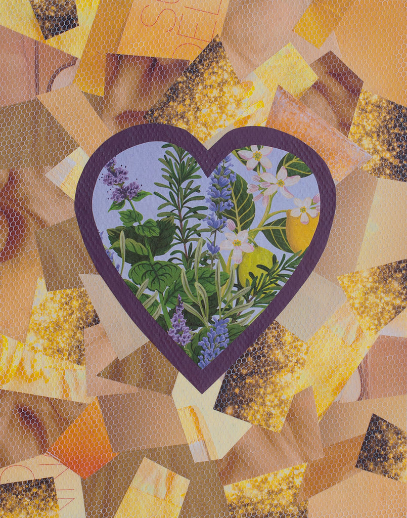 "Cassandra Tondro, ""Wallflower,"" collage art"