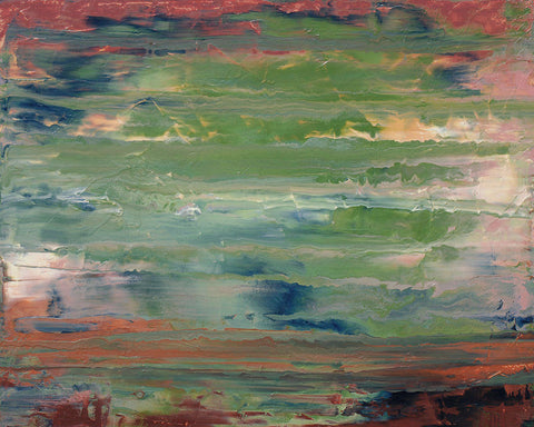 "Cassandra Tondro, abstract painting, ""After the Storm,"" landscape art"