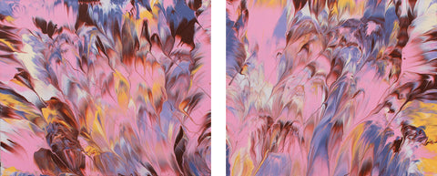 "Cassandra Tondro, abstract painting, ""Pink Drift,"" modern art"