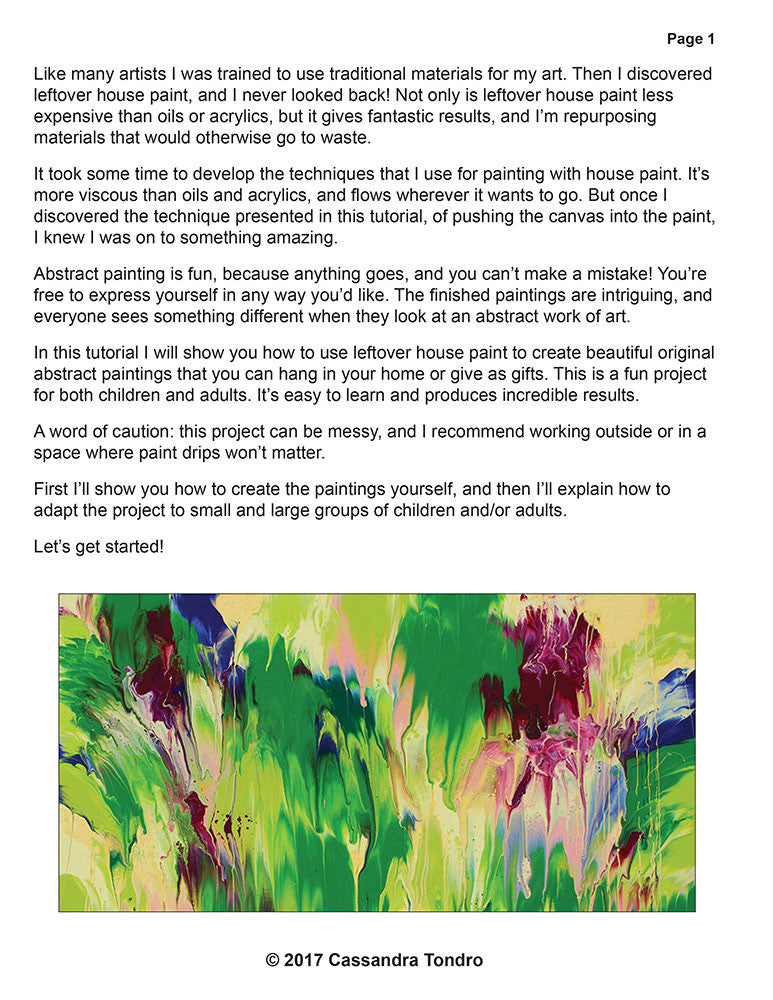 Create Your Own Original Abstract Art Tutorial