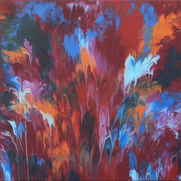 "Cassandra Tondro, ""Blazing Hot,"" abstract art"