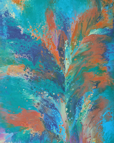 "Cassandra Tondro, ""Moment of Impact,"" abstract art"
