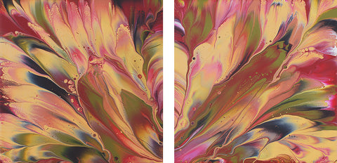 "Cassandra Tondro, ""Reveal,"" contemporary flow painting"