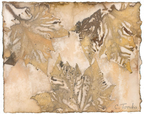 """London Plane,"" original botanical leaf print, 8"" x 10"""