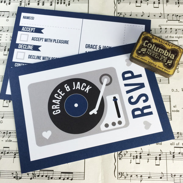 Vinyl Record Inspired Wedding Invitations