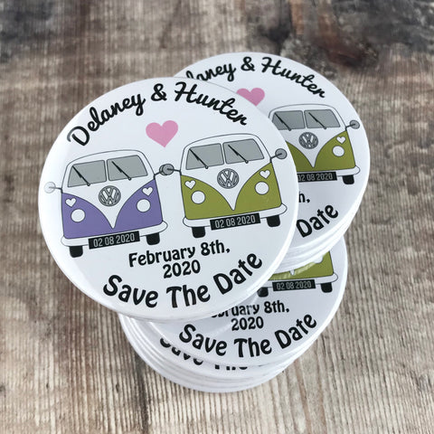 Save The Date Magnets Camper Van Inspired Design