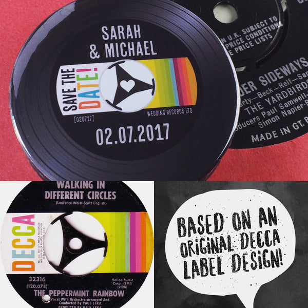 Save The Date Magnets Vinyl Record Design 3