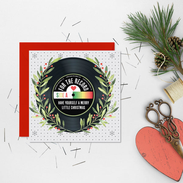 Vinyl Record Inspired Christmas Cards x 5