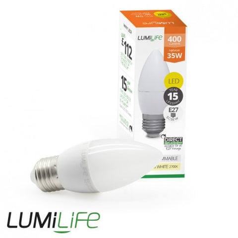 5W E27 LED - Replaces 35 Watt Candle Shape Bulb