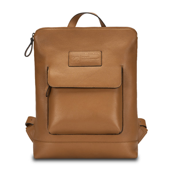 Backpack in pebble grain leather