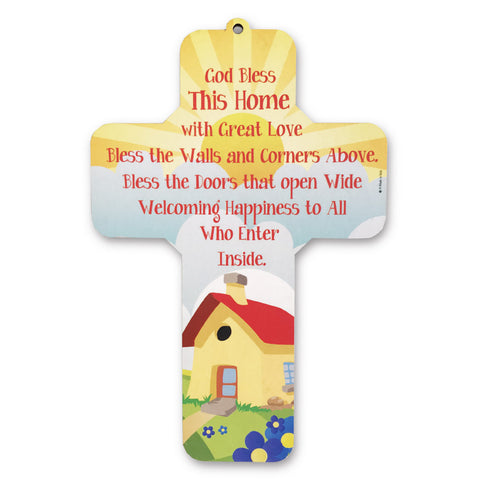 God Bless This Home Wall Cross