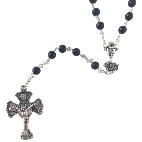 5mm Black First Holy Communion Rosary