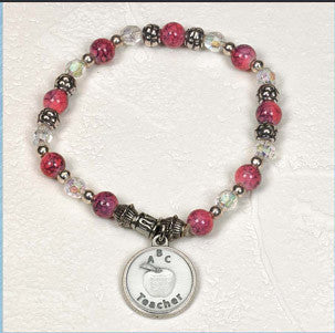 Teacher Appreciation Stretch Bracelet with Card