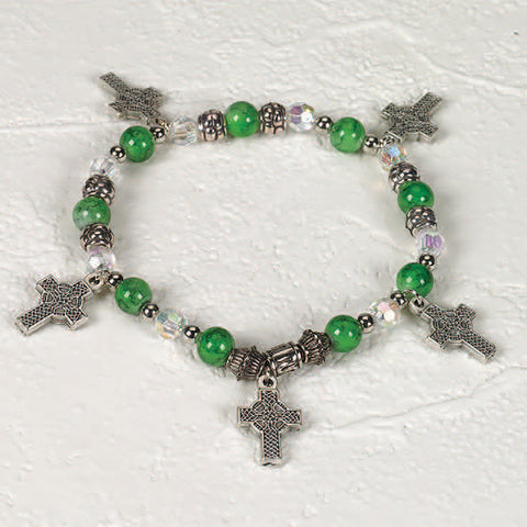 Celtic Crosses Stretch Bracelet