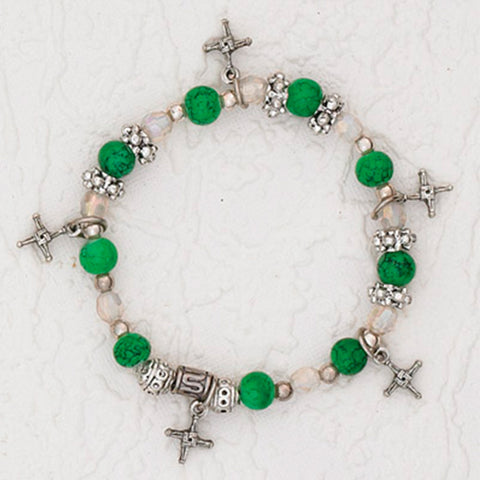 6mm Saint Brigid Cross Charm Bracelet