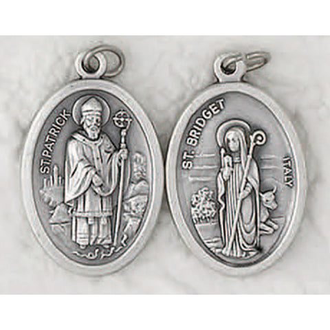 Double Sided St. Patrick/St. Bridget Oval Medal