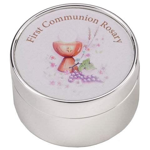 """First Communion"" Keepsake Box w/ Rosary"