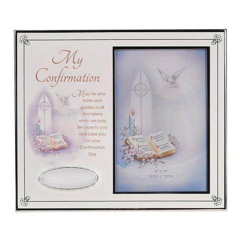 "Large ""My Confirmation"" Photo Frame w/ Engravable Plate"
