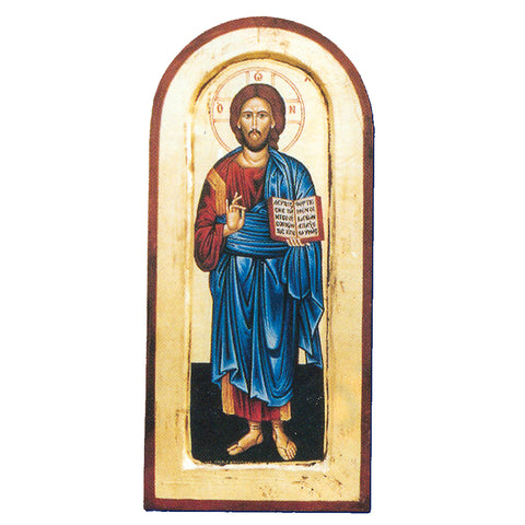 Arched- Christ the Teacher Greek Painted Icon