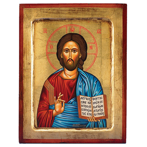 Christ the Teacher Greek Painted Icon