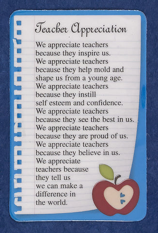 Teacher Appreciation Pocket Card