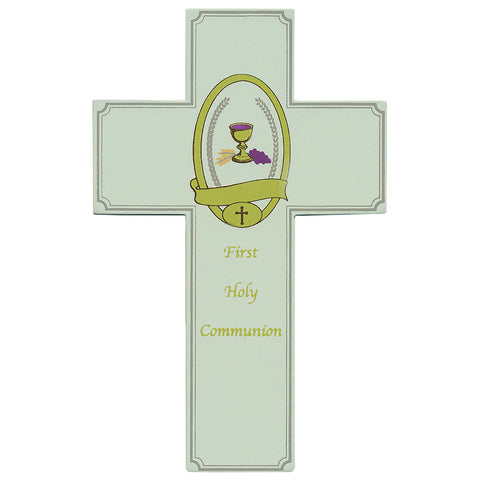 First Holy Communion Wooden Wall Cross