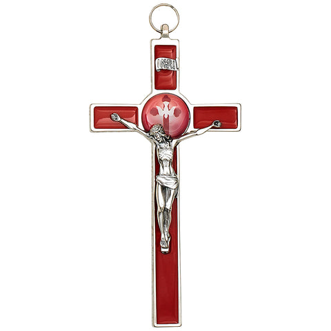 Red Enamel- Confirmation Wall Cross