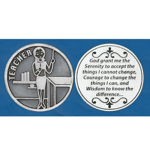 Teacher's Serenity Prayer Token