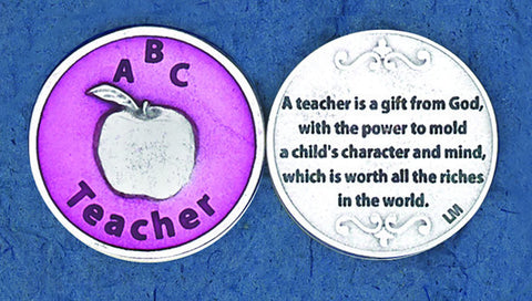 Pink Enameled- Teacher Token