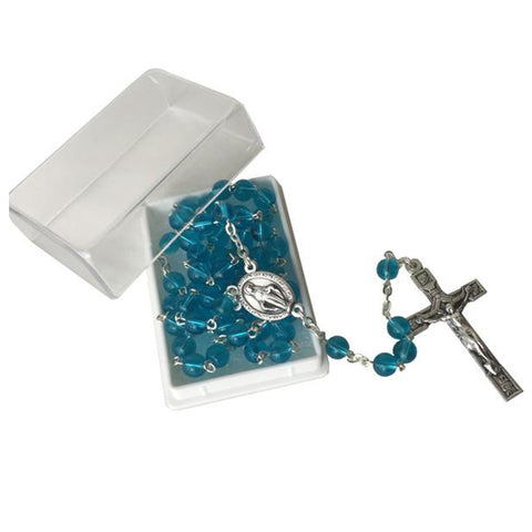 Blue Glass Rosary
