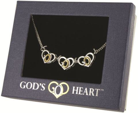 God's Heart Three Hearts Necklace