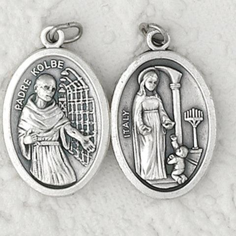 Double Sided Medal - Maria of Father Kolbe and Father Kolbe