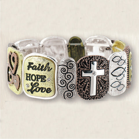 Faith Stretch Bracelet
