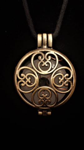 Vital Harmony Locket in Bronze Finish