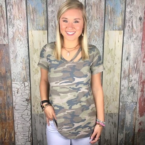 Count On Me Camo Tee