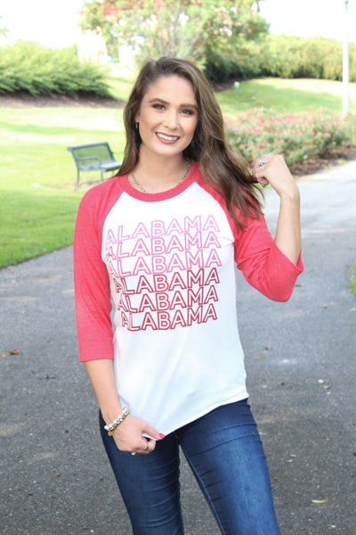 Alabama Repeater Baseball Tee