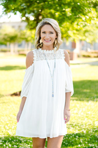 Always Believe Cold Shoulder Dress