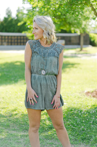Live Your Dream Crochet Romper