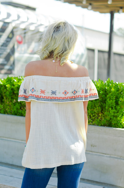 Find Your Way Embroidered Top